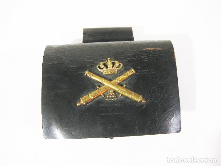 CARTUCHERA ARTILLERÍA DE TROPA DE LA ÉPOCA DE ALFONSO XIII (Militar - Otros relacionados con uniformes )