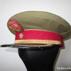 Militaria: GORRA COMANDANTE ESCOLTA GUARDIA DE FRANCO. ALGUNAS MOTAS DE POLILLA. VER FOTOS. Lote 222855415
