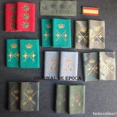 Militaria: (JX-201120)LOTE DE HOMBRERAS Y GRADUACIÓN DE PECHO DE CORONEL,GENERAL DE DIVISIÓN Y GENERAL DE BRIGA. Lote 223486287