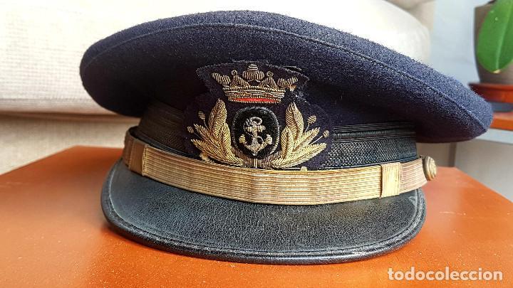 GORRA OFICIAL DE LA ARMADA ESPAÑOLA - AÑOS 50 FRANCO (Militar - Boinas y Gorras )