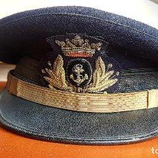 Militaria: GORRA OFICIAL DE LA ARMADA ESPAÑOLA - AÑOS 50 FRANCO. Lote 224918963