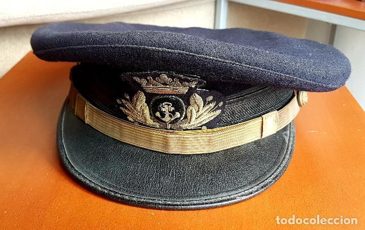 Militaria: GORRA OFICIAL DE LA ARMADA ESPAÑOLA - AÑOS 50 FRANCO - Foto 2 - 224918963