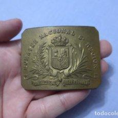 Militaria: * ANTIGUA Y RARA HEBILLA ALFONSINA DEL SOMATEN NACIONAL DE LA 5 REGION, ORIGINAL. ZX. Lote 227267595
