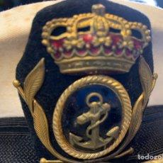 Militaria: GORRA DE PLATO PARA OFICIALES ARMADA ESPAÑOLA. Lote 227796335