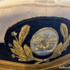 Militaria: GORRA DE PLATO PARA OFICIALES MARINA DE GUERRA ESPAÑOLA. Lote 227796425