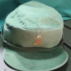 Militaria: GORRA SARGA LEGIÓN ORIGINAL 10 AÑOS 80 PATRULLA DE TIRO T-58 BUEN USO. Lote 227957860
