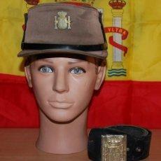 Militaria: GORRA MONTAÑERA DE GUARDA PARTICULAR DEL CAMPO/VIGILANTE JURADO AÑOS 80+CINTURON DE CUERO. Lote 228780040