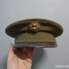 Militaria: ANTIGUA GORRA DE PLATO REPUBLICANA ORIGINAL DE ARTILLERIA REG 9L, GUERRA CIVIL.. Lote 229262205
