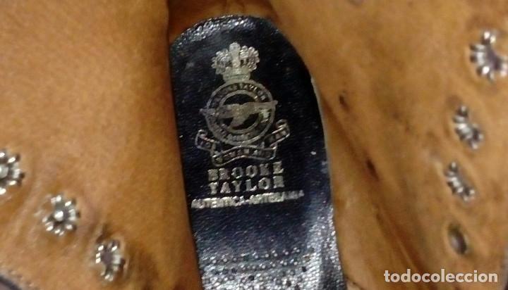 Militaria: Botas bajas de cuero negro, borceguíes británicos. Recreación histórica, G. Civil, 2GM. T 40 antigua - Foto 6 - 229734995