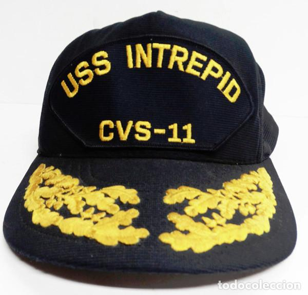 GORRA DE OFICIAL DEL USS INTREPID (Militar - Boinas y Gorras )