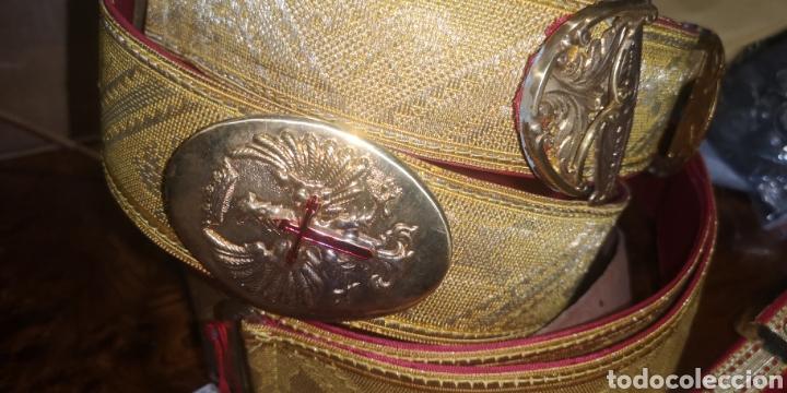 Militaria: Conjunto de bandolera cinturón colgador de sable y. Portacargadores - Foto 5 - 230897185