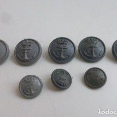 Militaria: CONJUNTO DE BOTONES GRIS PLANCHA, ARMADA ESPAÑOLA...AÑOS 50/60...ORIGINALES.. Lote 232358180