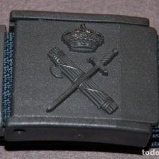 Militaria: CINTURON DE LONA VERDE Y HEBILLA EN PVC GUARDIA CIVIL AÑOS 80/90. Lote 232742395