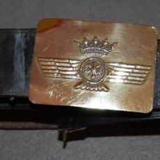 Militaria: CINTURON DE CUERO PARA OFICIAL DEL EJERCITO DEL AIRE/AVIACION AÑOS 40. Lote 233243775