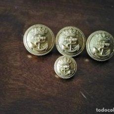 Militaria: 4 BOTONES DE LA ARMADA DE PORTUGAL.. Lote 234490140