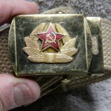 Militaria: HEBILLA Y CINTURON RUSO. Lote 234924575