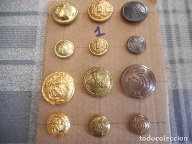 Militaria: lote de botones varios - Foto 2 - 235252735