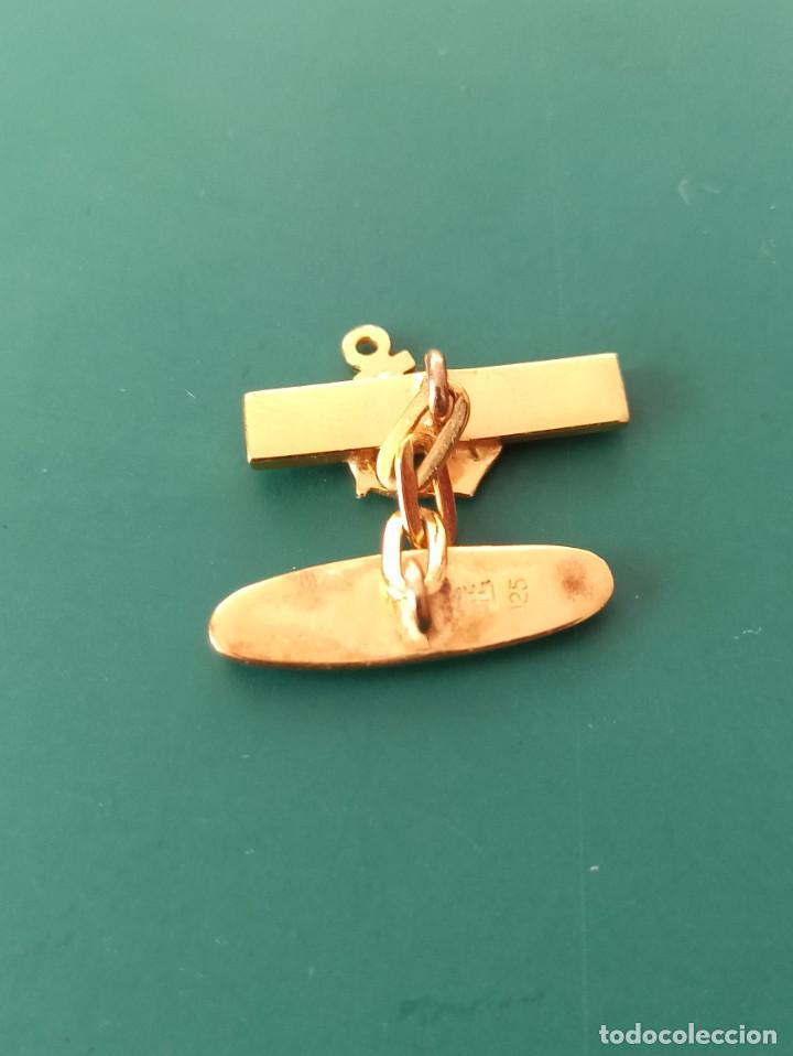Militaria: Gemelo de la Armada. Marcaje plata - Foto 3 - 235418120