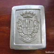Militaria: HEBILLA DE LA GUARDIA URBANA DE BARCELONA. AÑOS 60/70. Lote 236800980