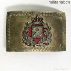 Militaria: ESPAÑA. HEBILLA DE INGENIERO DE MINAS. ÉPOCA ALFONSO XIII.. Lote 237293485