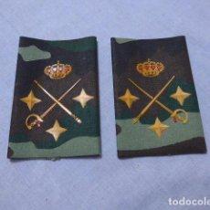 Militaria: * PAREJA DE HOMBRERAS DE CAMUFLAJE DE TENIENTE GENERAL, EPOCA JUAN CARLOS I, ORIGINAL, MANGUITOS. ZX. Lote 238150980