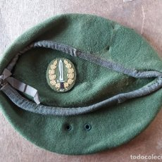 Militaria: BOINA VERDE, SIN TALLA, CON ORIFICIOS DE VENTILACIÓN. Lote 23445682