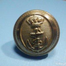 Militaria: BOTÓN UNIFORME - MARINA DE GUERRA - 14 MM DIÁMETRO - DORADO Y REVERSO DORADO. Lote 242144890