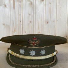Militaria: GORRA DE PLATO CORONEL DE INFANTERIA - ELABORADA POR HIJO DE JESUS MARTINEZ MADRID. Lote 243945165