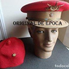Militaria: (JX-210291)GORRA DE PLATO Y TARBUCH DE ALFÉREZ DE REGULARES,LA GORRA REALIZADA EN CASA GARRIDO,CEUTA. Lote 244181605