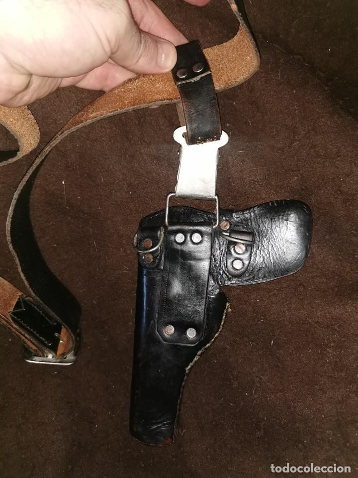 Militaria: Funda y cinturón cuero pistola. 9 corto.guerrra civil o posguerra - Foto 3 - 244847125