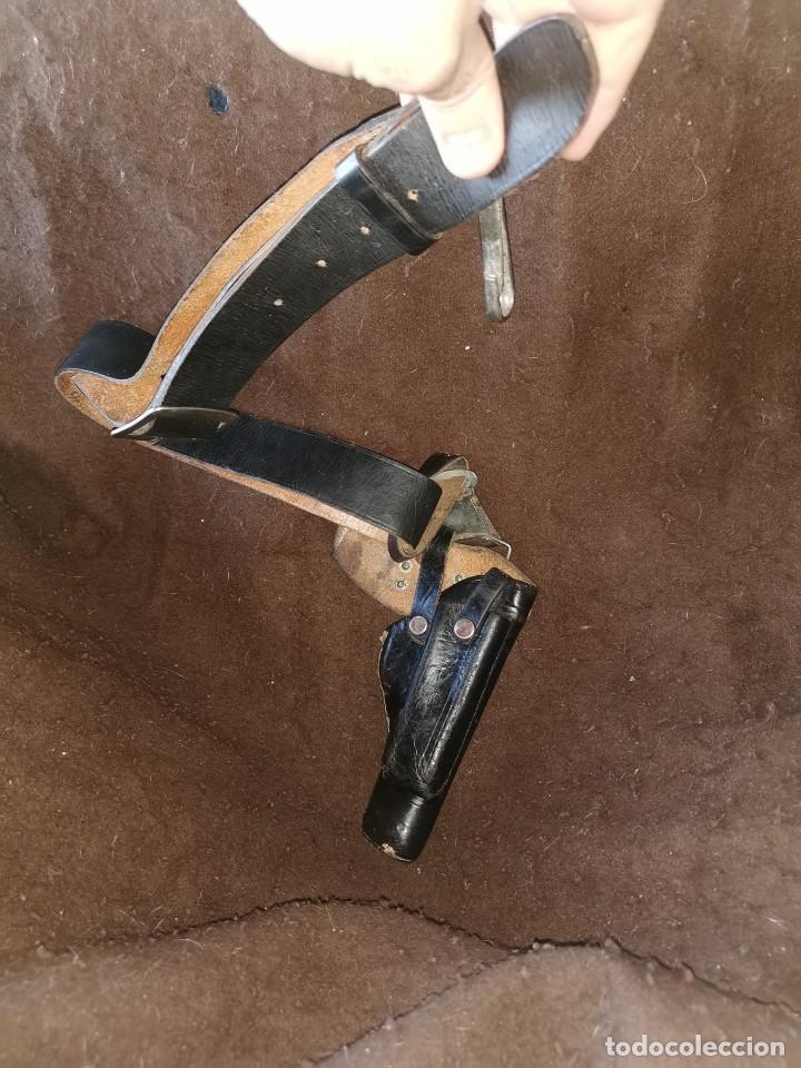 Militaria: Funda y cinturón cuero pistola. 9 corto.guerrra civil o posguerra - Foto 6 - 244847125