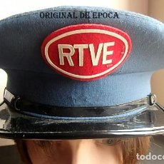 Militaria: (XJ-210300)GORRA DE PLATO DE VIGILANTE O CONSERJE DE RADIO TELEVISIÓN ESPAÑOLA .. Lote 245416935