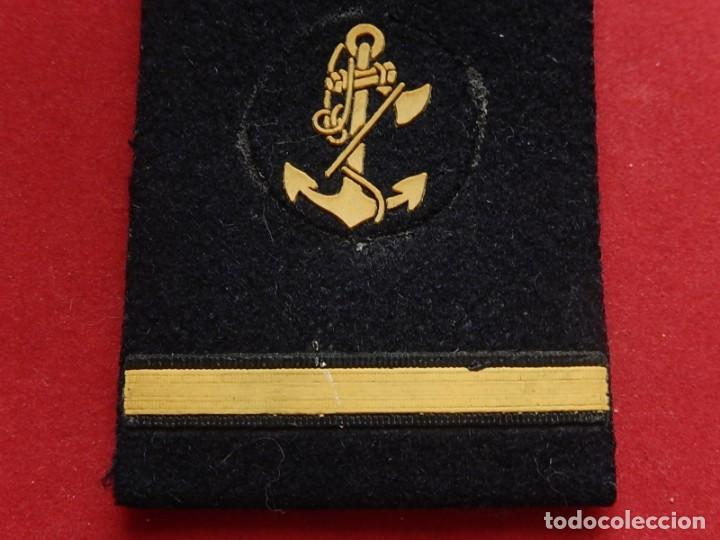 Militaria: Armada Española. Marina Guerra. Hombreras. Suboficiales. Subteniente. Contramaestre. Época Juan Carl - Foto 5 - 245446950