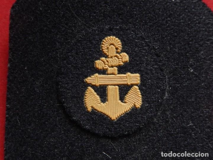Militaria: Armada Española. Marina Guerra. Hombreras. Suboficiales Superiores. Subteniente. Torpedista. Época J - Foto 4 - 245449160