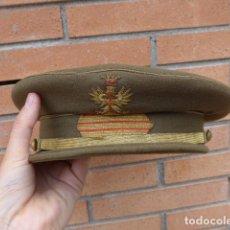 Militaria: * ANTIGUA GORRA DE PLATO DE SARGENTO DE EPOCA DE FRANCO, FRANQUISTA, ORIGINAL. ZX. Lote 246297585