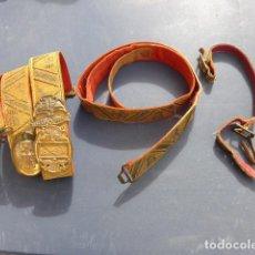 Militaria: * ANTIGUO LOTE DE GALA DE FRANCO: CINTURON, BANDOLERA CON HEBILLA, PORTASABLES. ORIGINAL. ZX. Lote 246361780