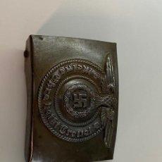Militaria: HEBILLA DEL EJERCITO ALEMAN SEGUNDA GUERRA MUNDIAL , CON MARCAJES. Lote 246472110