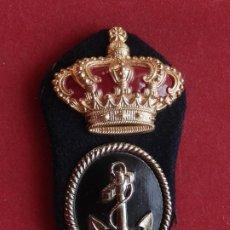 Militaria: ARMADA ESPAÑOLA. MARINA GUERRA. GALLETA PARA GORRA. CABOS 1º V. ÉPOCA DE JUAN CARLOS I.. Lote 246818125