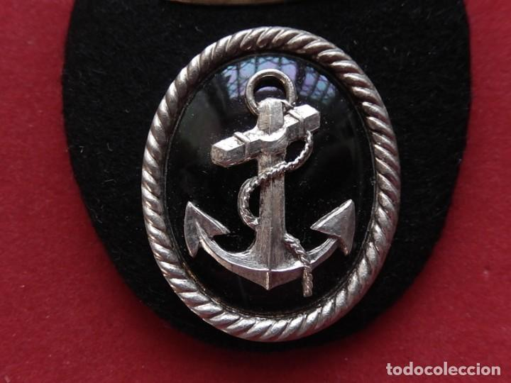 Militaria: Armada Española. Marina Guerra. Galleta para gorra. Funcionarios Civiles. Época de Juan Carlos I. - Foto 3 - 246818495