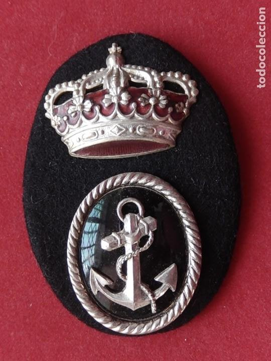 Militaria: Armada Española. Marina Guerra. Galleta para gorra. Funcionarios Civiles. Época de Juan Carlos I. - Foto 5 - 246818495