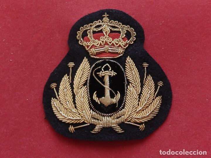 Militaria: Armada Española. Marina Guerra. Galleta para gorra. Jefes y Oficiales. Época de Juan Carlos I. - Foto 2 - 288522473