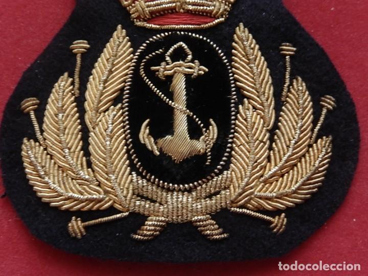 Militaria: Armada Española. Marina Guerra. Galleta para gorra. Jefes y Oficiales. Época de Juan Carlos I. - Foto 4 - 288522473