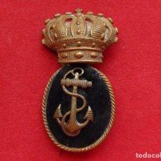 Militaria: ARMADA ESPAÑOLA. MARINA GUERRA. GALLETA PARA GORRA. CLASES SUBALTERNAS. ÉPOCA ALFONSO XIII.. Lote 246971995