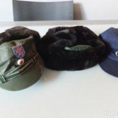 Militaria: POLICIA - LOTE DE 3 GORRAS (OFERTA.... ). Lote 247667670