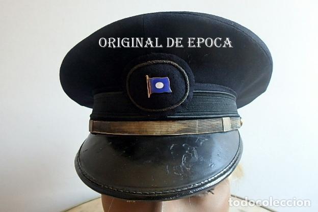 (XJ-210340)GORRA DE OFICIAL DE LA COMPAÑÍA NAVIERA TRANSATLÁNTICA,AÑOS 30 / 40. (Militar - Boinas y Gorras )