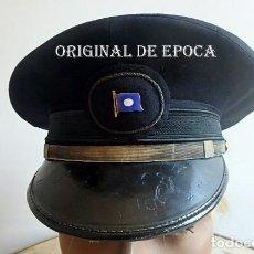 Militaria: (XJ-210340)GORRA DE OFICIAL DE LA COMPAÑÍA NAVIERA TRANSATLÁNTICA,AÑOS 30 / 40.. Lote 247782780