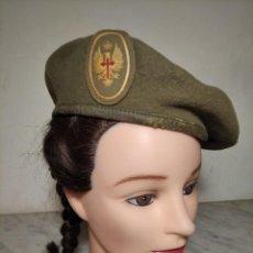 Militaria: BOINA EJÉRCITO DE TIERRA ESPAÑA (TALLA 57) AÑOS 70 - 80 - ELOSEGUI SÚPER LUJO - TOLOSA - MILITAR -. Lote 248492895