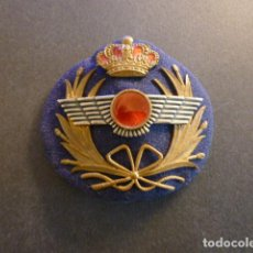 Militaria: PARCHE GORRA DE PLATO MILITAR EJERCITO DEL AIRE METAL Y TEJIDO. Lote 248492940