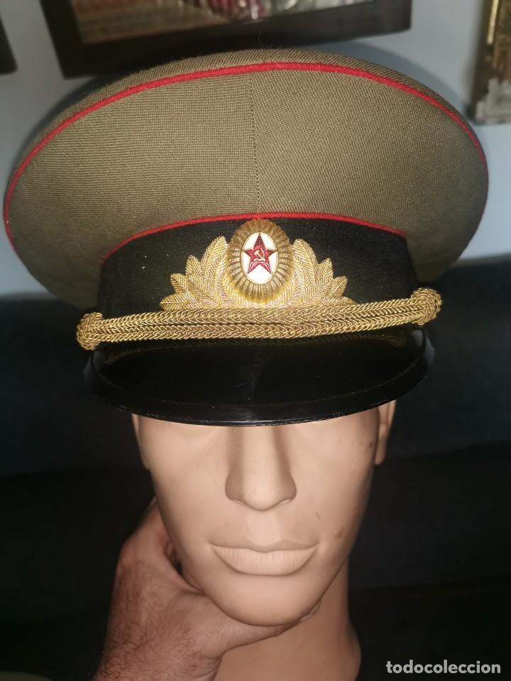 Militaria: Gorra de plato.oficial de la policía militar. URSS. 1989 - Foto 2 - 251612770