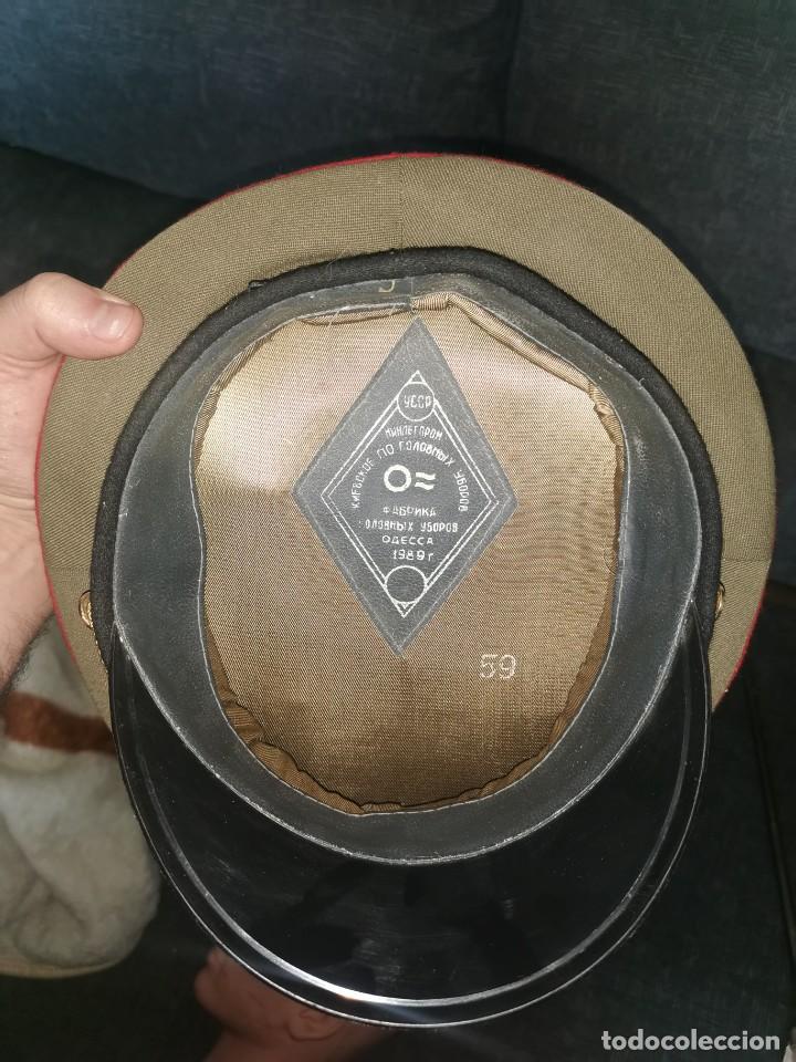 Militaria: Gorra de plato.oficial de la policía militar. URSS. 1989 - Foto 8 - 251612770